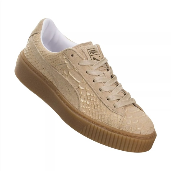 Puma Shoes | Nude Exotic Snakeskin